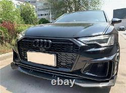 Pare-chocs avant pour Audi A6 C8 4K 2018-2020 RS6 Look Grilles latérales PDC SRA
