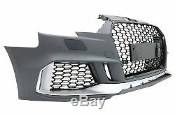Pare-chocs pour AUDI A3 8V Facelift 16-18 Hatch Sportback RS3 Noir Brillant Look