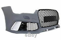 Pare-chocs pour AUDI A7 4G Facelift 15-18 RS7 Look grille Diffuseur d'air Bouts