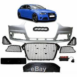 Parechoc + Calandre Look Rs4 Pour Audi A4 B8 8k Phase 2 De 11/2011 A 2015