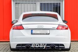 Performance Arrière Pare Chocs Diffuseur Module Côtes / Ailettes For Audi Tt 8S