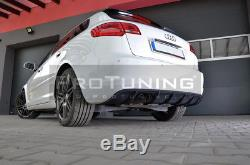 Pour Audi A3 8P 08-12 Pare-chocs arrière SPOILER S Line BAGUE JUPE Module jupe