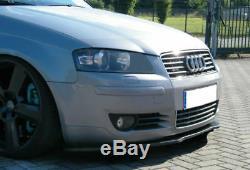 Pour Audi A3 8P 2003+ Pare-Choc avant Coupe Jupe Menton Séparateur Extension