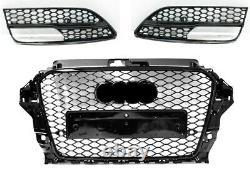 Pour Audi A3 8V 12-15 RS Look Calandre nid d'abeille Pare-chocs Diffuseur 02