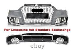 Pour Audi A3 8V 12-15 RS Look Gril En Nid D'abeille Pare-chocs Grille De