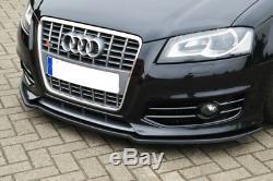 Pour Audi A3 S3 8P Pare-Choc avant Coupe Jupe Becquet Inférieur Menton Jupe