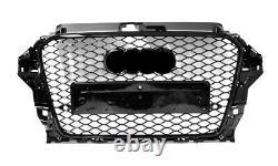 Pour Audi A3 S3 8V RS3 Regardez Calandre Plein Noir Brillant To 2012-2015