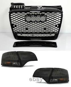 Pour Audi A4 B7 04-08 RS4 Regardez Calandre Nid D'Abeille + LED Feux Pare-Chocs