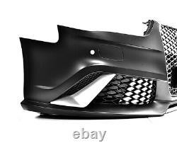 Pour Audi A4 B8 2012-2014 RS4 Regardez Pare-Chocs + Calandre Nid D'Abeille