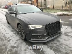 Pour Audi A4 B8 8 T Facelift Pare Choc avant Jupe Menton Noir Mat Spoiler Bague