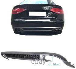 Pour Audi A4 B8 8K Berline avant Diffuseur Rajout Pare-Choc Arrière Spoiler
