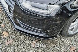 Pour Audi A4 B8 Pare-Choc avant Coupe Jupe Becquet Inférieur Menton Séparateur