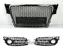 Pour Audi A4 B8 RS4 Regardez 07-12 Calandre Noir Brillant S-LINE S4 Pare-Chocs
