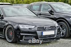 Pour Audi A4 B9 avant S LINE et S4 Pare-Choc Bague Coupe Jupe Menton Séparateur