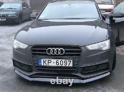 Pour Audi A5 B8 8T Facelift Avant Pare-Choc Jupe Menton Noir Vernis Spoiler Lip