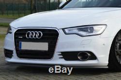 Pour Audi A6 4G Se Prefacelift Pare-Choc avant Coupe Jupe Menton Jupe Séparateur