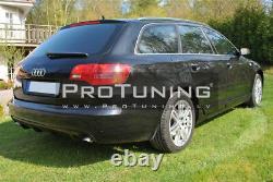Pour Audi A6 C6 4F Prefacelift Avant Pare-Chocs RS6 Style Réflecteur