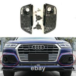 Pour Audi Q5 FY & SQ5 2018-20 Noir Pare-Chocs Grille Cache