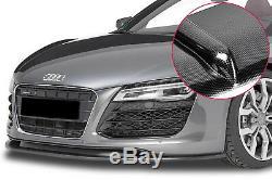 Pour Audi R8 MK1 Carbone Séparateur Bague Réflecteur Pare Choc avant Jupe Menton