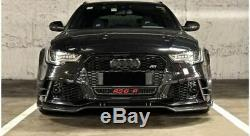 Pour Audi RS6 C7 4G Carbone Fibre avant Pare-Choc Spoiler Lip / Séparateur 13-18