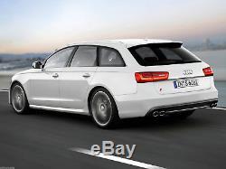 Pour Audi S6 4G C7 11-15 Arrière Pare Chocs Diffuseur Double Échappement