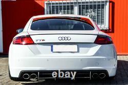 Pour Audi TTS 8S Arrière Pare Chocs Diffuseur Avec Côtes / Palmes Jupe Bord