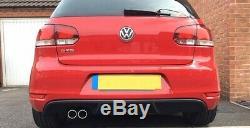 Pour VW Golf 6 GTD Diffuseur Rajout De Pare-Choc Arrière Spoiler Lame Noir 2008