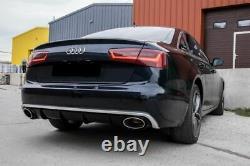 RS6 Aspect Réflecteur + Échappement Embouts pour Audi A6 C7 4G Se Pare-Choc