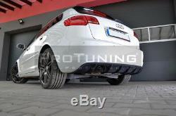 Réflecteur pour Audi A3 8P 08-12 Pare-Chocs Arrière Rs Spoiler Jupe Addon Menton