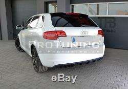 Réflecteur pour Audi A3 8p 08-12 Pare-Chocs Arrière Rs Spoiler Jupe Module Jupe