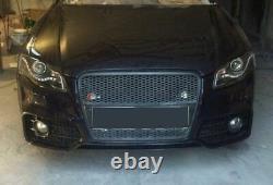 Rs Style Neuf Complet Avant Pare-Choc avec Noir Grille pour Audi A4 B7 04-08