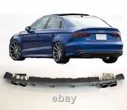 S3 Aspect Arrière Pare Chocs Diffuseur Audi A3 8V Saloon Avec Silencieux Embouts