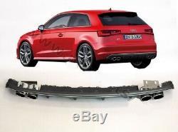 S3 Aspect Arrière Pare Chocs Diffuseur Audi A3 8V Sportback Avec Silencieux Tips