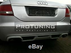 S6 Limousine Échappement Conversion pour A6 4f C6 Arrière Pare Chocs Diffuseur
