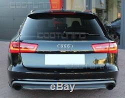 S6 Look Diffuseur pour Audi A6 C7 4G avant avec Standard Pare-Chocs
