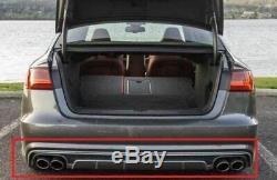 S6 Style Arrière Pare Chocs Diffuseur pour Audi A6/S6 C7 4G 2015-2018 Se Tuning