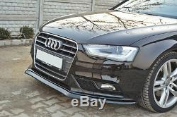 Séparateur pour Audi A4 S4 B8 Facelift V2 Pare-Chocs avant Becquet Coupe