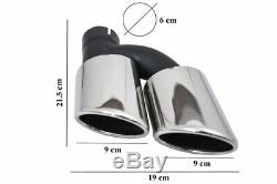 Seul SLine Parechocs Diffuseur Échappement pour AUDI A7 4G Facelift 15-18 S7Loo