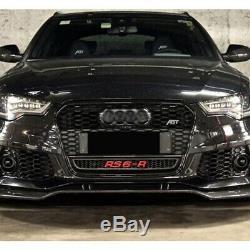 Spoiler Pare-chocs avant Pour Audi A6 C7 4G RS6 11-18 Carbone véritable