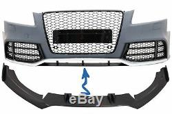 Spoiler Pare-chocs avant pour AUDI A5 8T RS5 08-16 Spoiler Lip Real Carbon