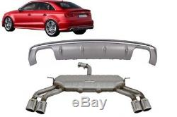 Valance Diffuseur Audi A3 8V 12-15 Pare-chocs Système d'échappement S3 Design